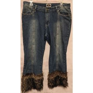 bd51ed3ab31 ♥️️5 For  25♥️Elite Jeans Cropped Faux Fur Stretch